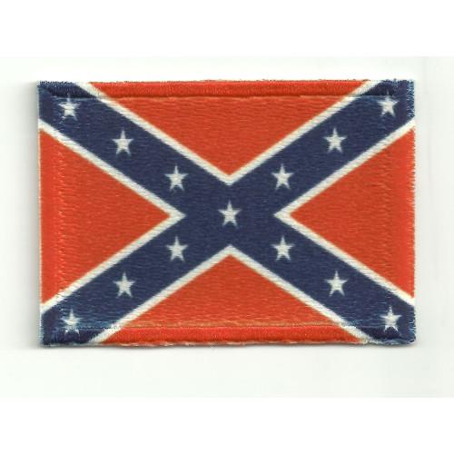 Parche bandera rebelde o confederada 7cm x 5cm