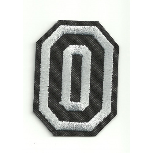 Patch embroidery LETTER 0  5cm high