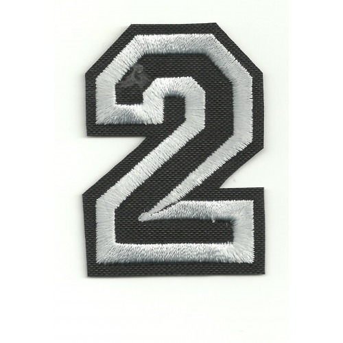 Patch embroidery LETTER 2  5cm high