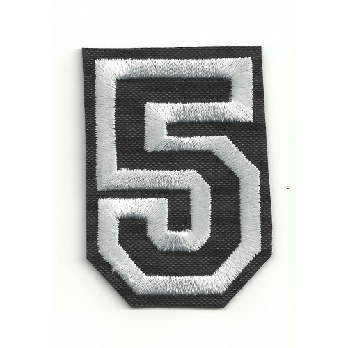 Patch embroidery LETTER 5  5cm high