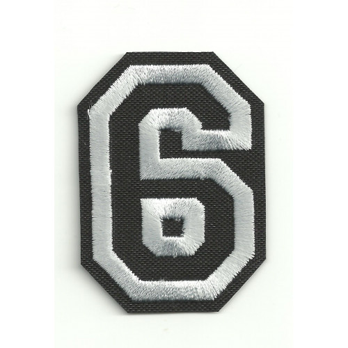 Patch embroidery LETTER 6  5cm high