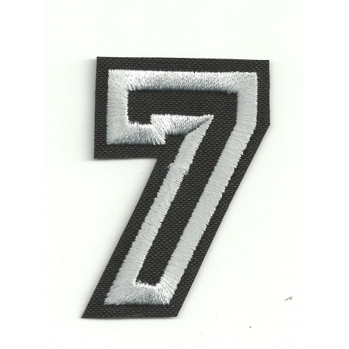 Patch embroidery LETTER 7  5cm high
