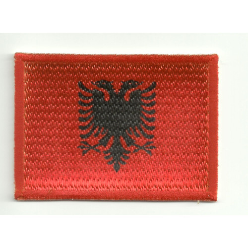 Patch embroidery and textile FLAG ALBANIA 7CM x 5CM