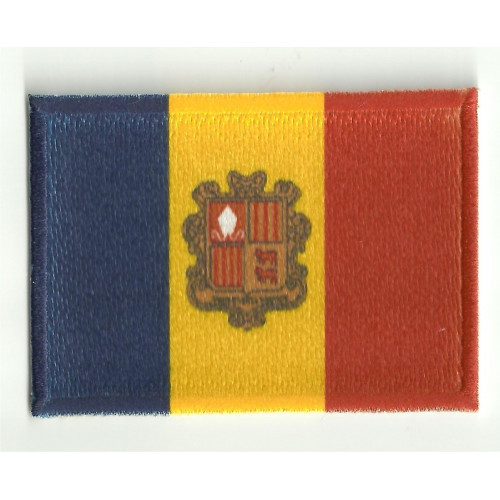 Patch embroidery and textile FLAG ANDORRA 4CM X 3CM
