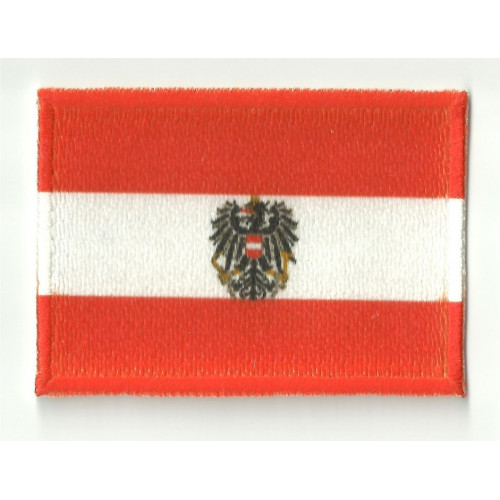 Patch embroidery and textile FLAG AUSTRIA 7CM x 5CM
