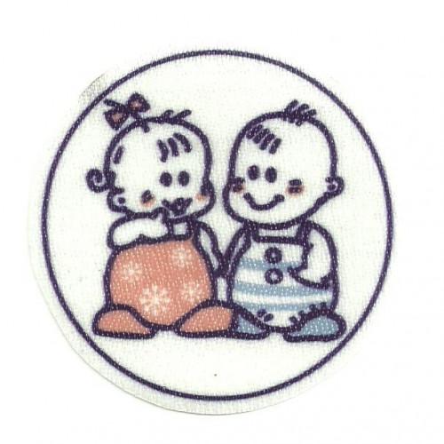 Textile patch BEBES 6,5cm x 6,5cm