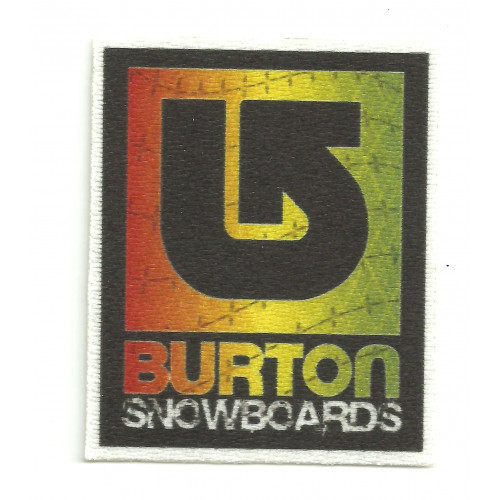 Textile patch BURTON SNOWBOARDS COLOR 10cm x 11,8cm
