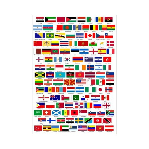 Patch embroidery and textile ANY BANNER of the WORLD  4cm x 3cm