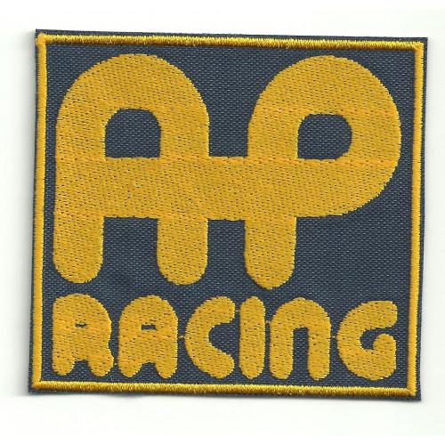 Parche bordado AP RACING 7,5cm x 7,5cm