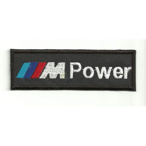 "Parche bordado M POWER  "" BMW "" 9cm x 3cm"