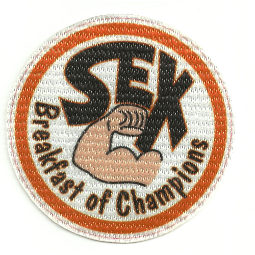Parche textil SEX BREAKFAST OF CHAMPIONS 7,5cm