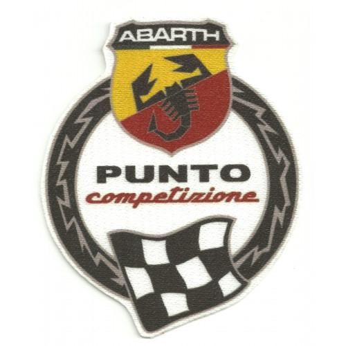 Textile patch ABARTH PUNTO COMPETIZIONE  9cm x 11,5cm