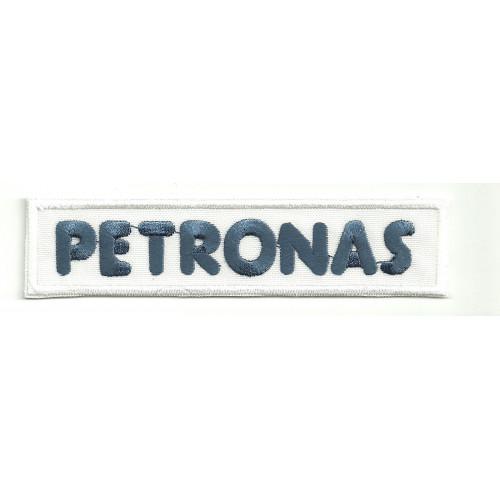 Parche bordado PETRONAS BLANCO 11,5cm x 2,5cm