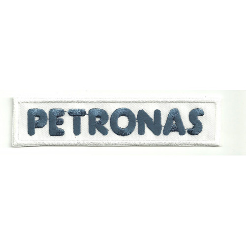 Patch embroidery PETRONAS WHITE 11,5cm x 2,5cm