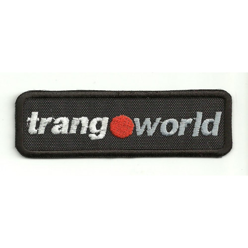 embroidery  patch  TRANGOWORLD 8,5cm x 2,5cm