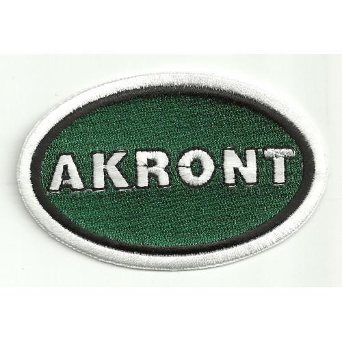 Parche bordado  AKRONT  8.5cm x 5.5cm
