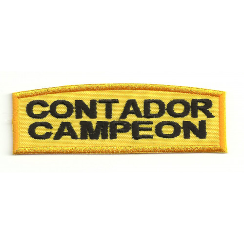 Patch embroydery CONTADOR CAMPEON 9cm x 3cm