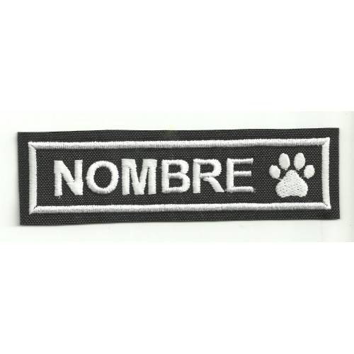 Embroidery Patch THE NAME OF YOUR PET  10cm X 2.8 cm