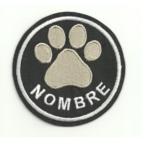 Embroidery Patch THE NAME OF YOUR PET  6cm diameter