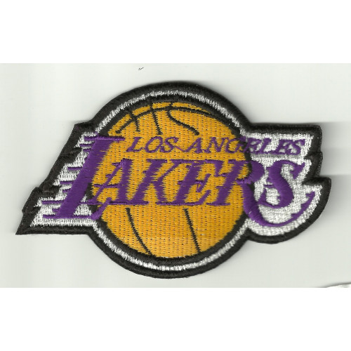 Parche bordado  LOS ANGELES LAKERS   9cm x 5,5cm
