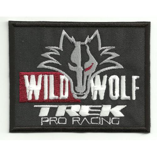 Parche bordado WILD WOLF TREK PRO RACING  9cm x 7cm