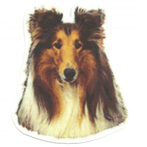 Parche textil  COLLIE  7cm x 8cm