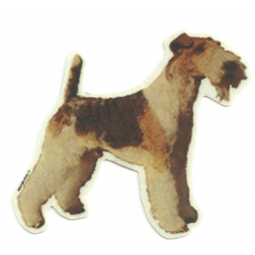 Textile Patch  FOX TERRIER   8,5cm x 8,5cm
