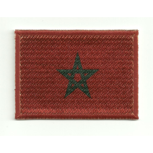 Patch embroidery and textile FLAG MOROCCO 4CM x 3CM