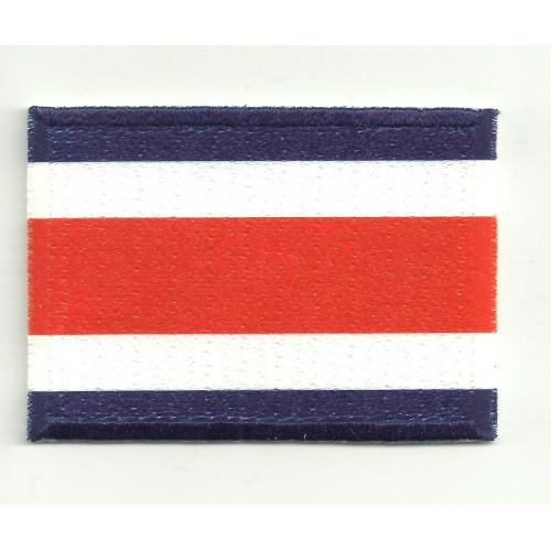 Parche bordado y textil BANDERA COSTA RICA 7CM x 5CM