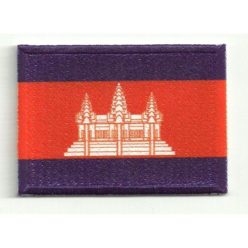 Patch embroidery and textile FLAG CAMBODIA 4CM x 3CM