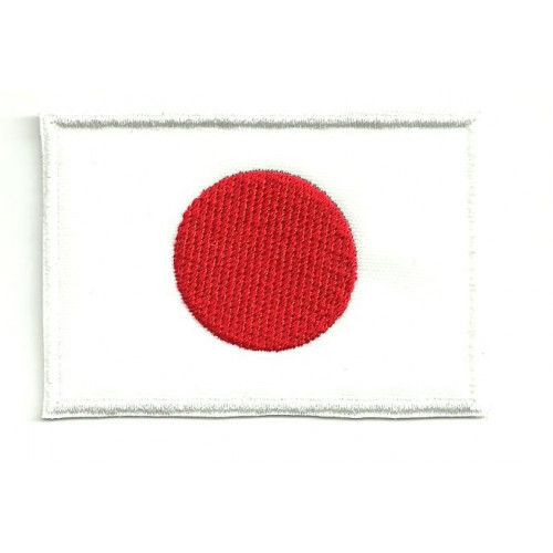 Parche bordado BANDERA JAPON 7CM x 5CM