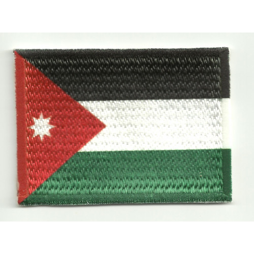Patch embroidery and textile FLAG JORDANIA 4CM x 3CM