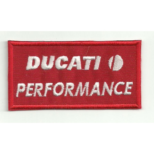 Patch embroidery DUCATI PERFORMANCE 8cm x 4.5cm