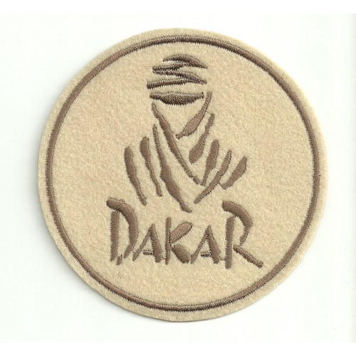 Patch embroidery  DAKAR  BEIG  3,5cm