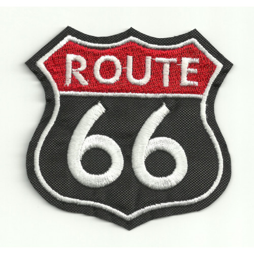 Patch embroidery  ROUTE 66   3,5cm x 3,5cm