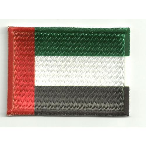 Parche bordado y textil BANDERA EMIRATOS ARABES 4CM x 3CM
