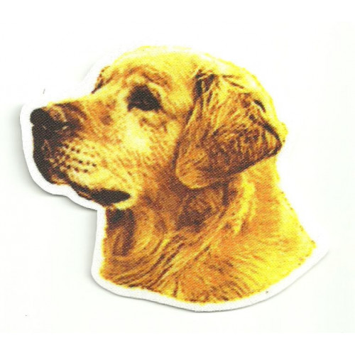 Textile Patch  GOLDEN RETRIEVER   8cm x  7,5cm