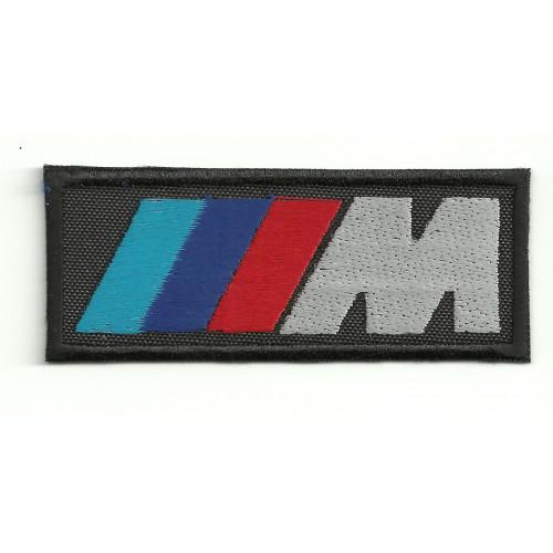 Parche bordado  BMW M  16cm x 6cm
