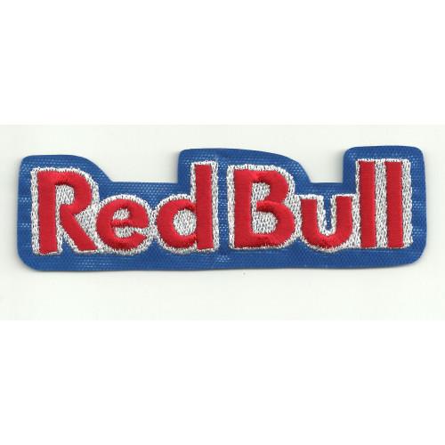 Parche bordado RED BULL AZUL lertras  5cm x 1,5cm