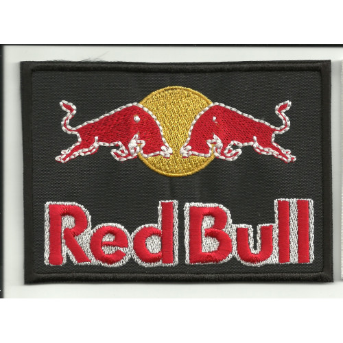 Parche bordado RED BULL NEGRO 5cm x 3,5cm