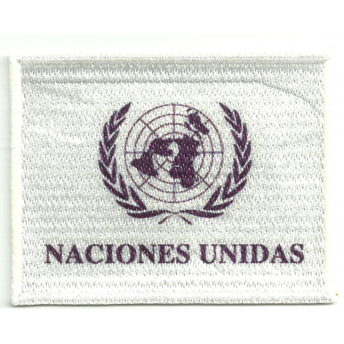 Patch embroidery NACIONES UNIDAS 4cm x 3cm