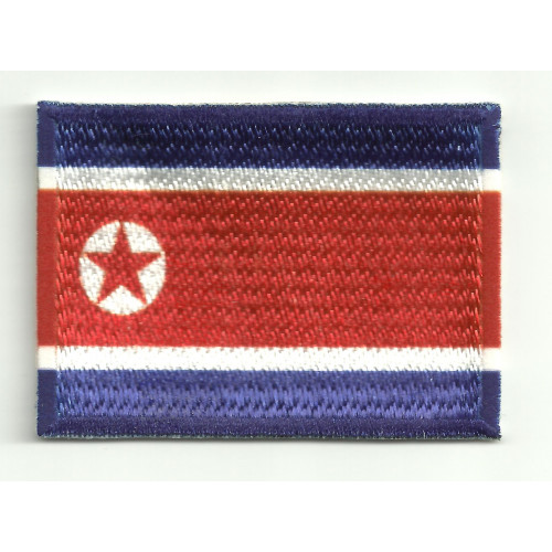Patch embroidery and textile COREA DEL NORTE  7CM x 5CM