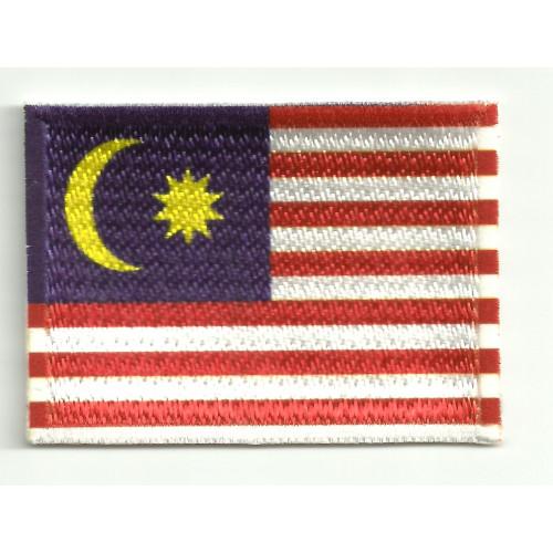 Parche bordado y textil  MALASIA  7CM x 5CM