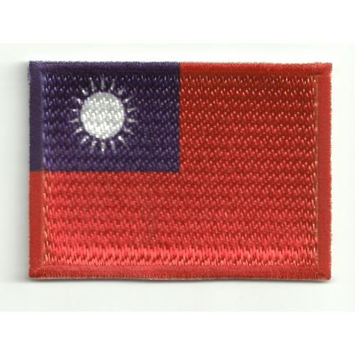 Parche bordado y textil  TAIWAN 7CM x 5CM