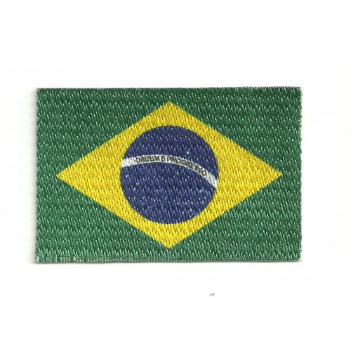 Parche bandera BRASIL  4cm x 3cm
