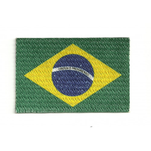 Parche bandera BRASIL  7cm x 5cm