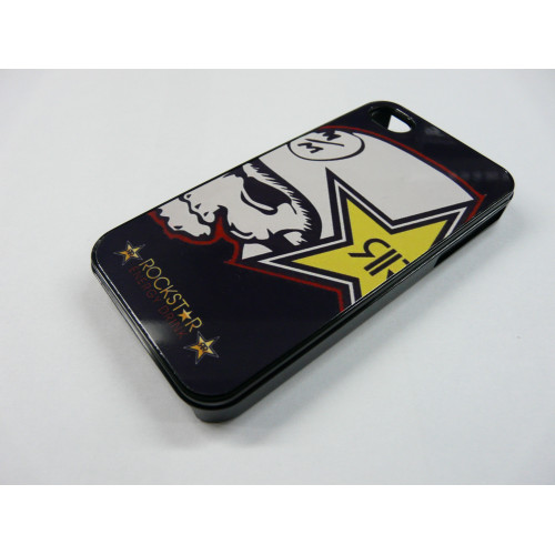 IPHONE 4 AND 4S ROCKSTAR METAL MULISHA BLACK AND WHITE