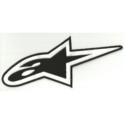 Patch embroidery ALPINESTARS LOGO THREAD BLACK 5cm x 2,3cm