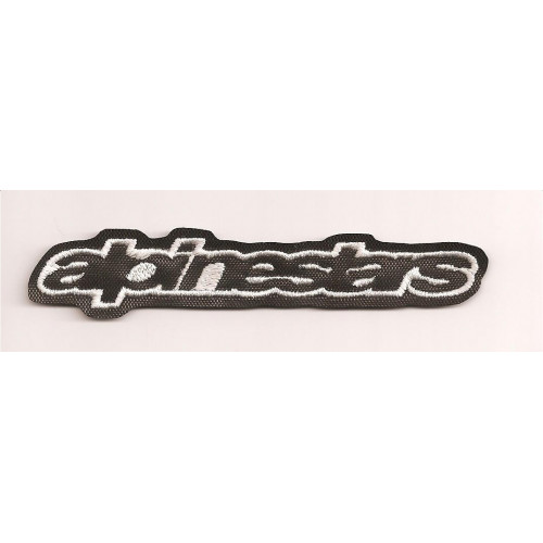 Patch embroidery ALPINESTARS BLACK  6cm x 1cm