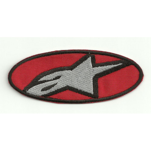 Patch embroidery ALPINESTARS RED 4,5cm x 1,8cm